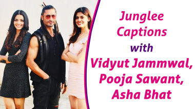 Vidyut Jammwal, Pooja Sawant, Asha Bhat give JUNGLEE captions to their Instagram pictures
